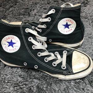 Black converse - 6.5
